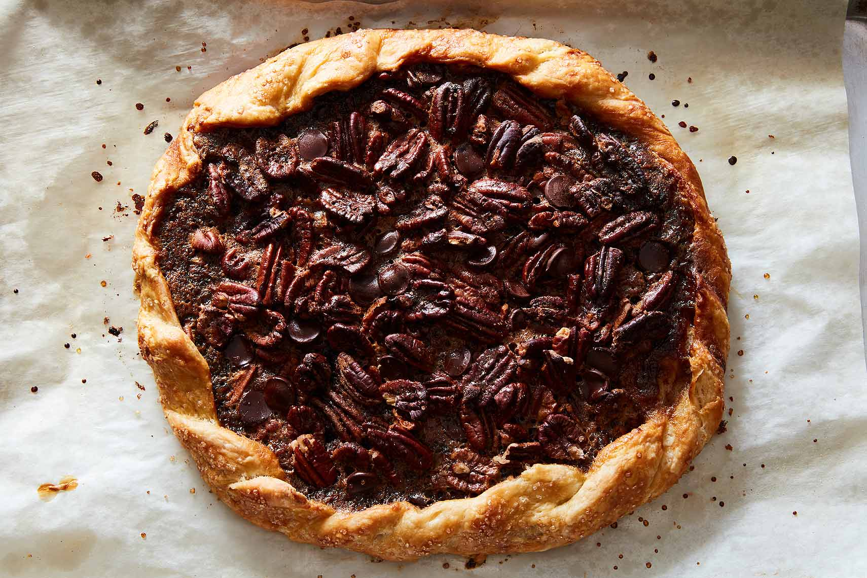pecan chocolate galette