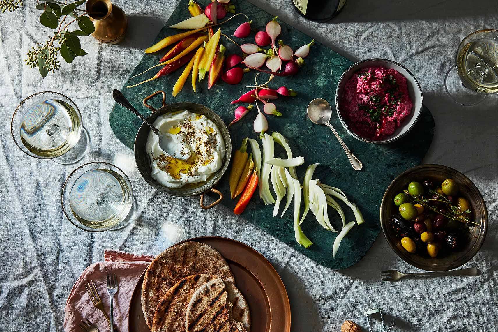 simple mezze snacks