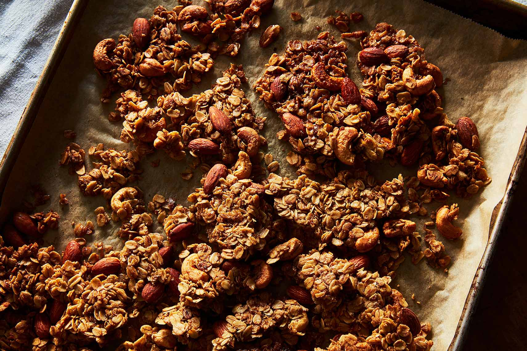 homemade granola with extra clumps