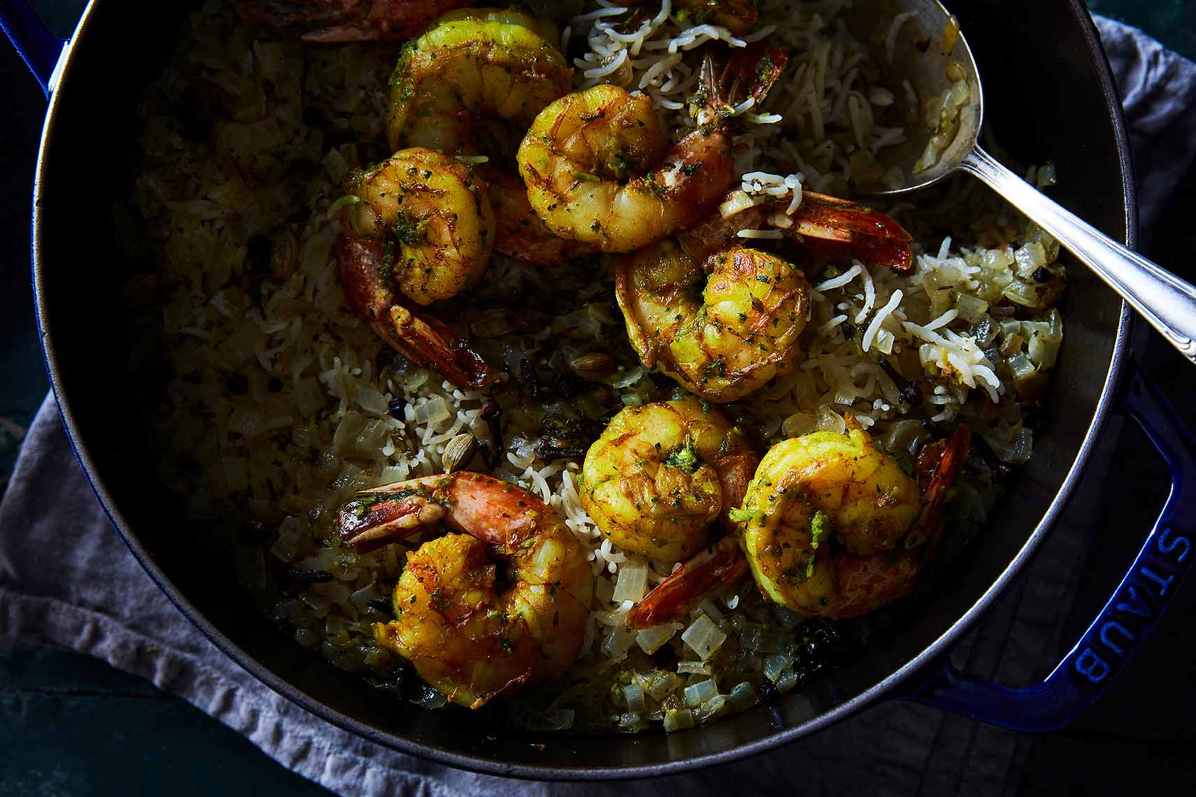 indian biryani rice shrimp